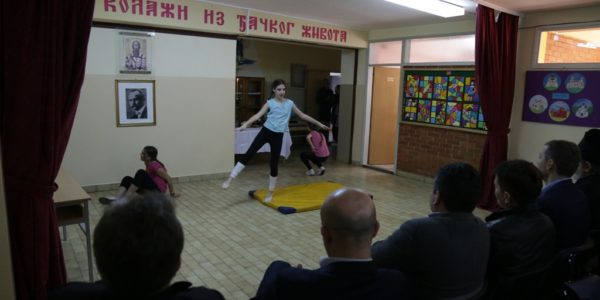 Милица Максимовић, балетско извођење на прослави Дана школе
